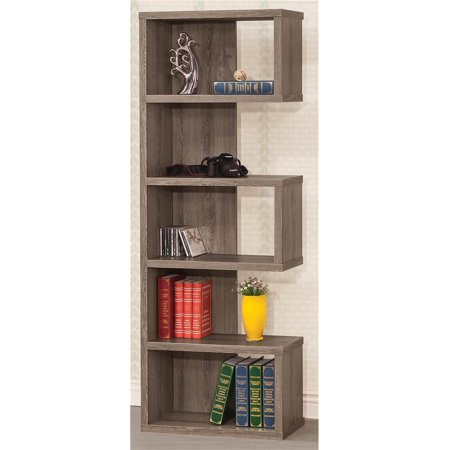 Modern Bookshelf In Dark Gray