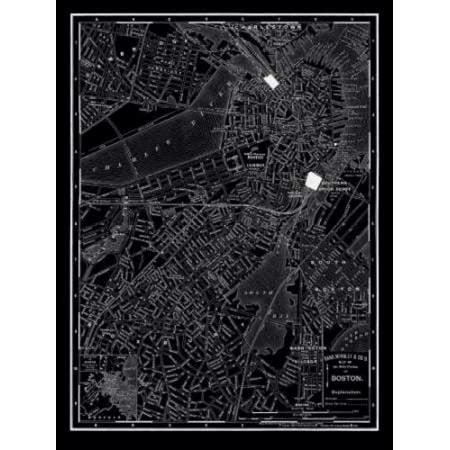 Boston 1895 Poster Print by 1895 Vintage (Boston Terminal Map)