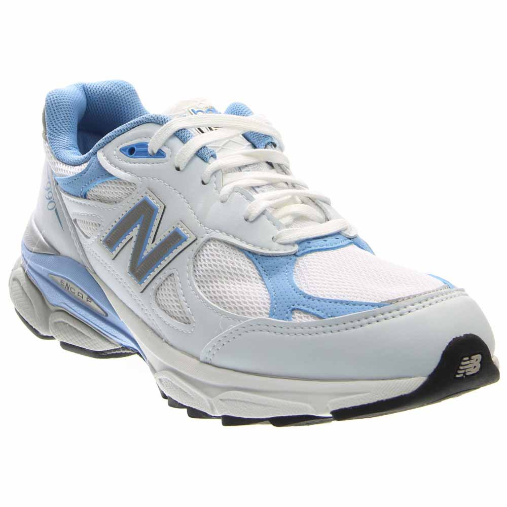 New Balance W990WB3 Women's Everyday Running Shoes, White with Blithe & Grey by New Balance