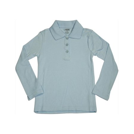 0cd39ffcbb5 FRENCH TOAST - French Toast School Uniform Big Girls Plus Size Long Sleeve  Interlock Polo Shirt