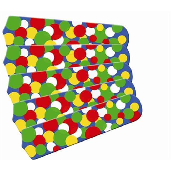 Ceiling Fan Designers 52SET-IMA-KBBD Kids Light Bright Dots 52 inch Ceiling Fan Blades Only