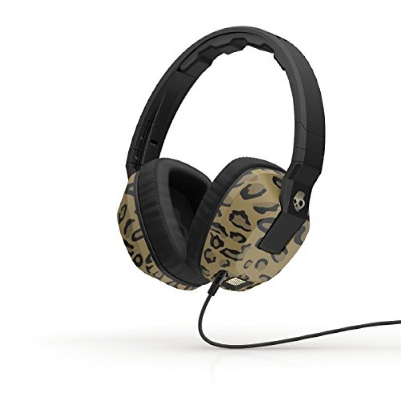 Skullcandy Crusher Headphones with Built-in Amplifier and Mic, Leopard