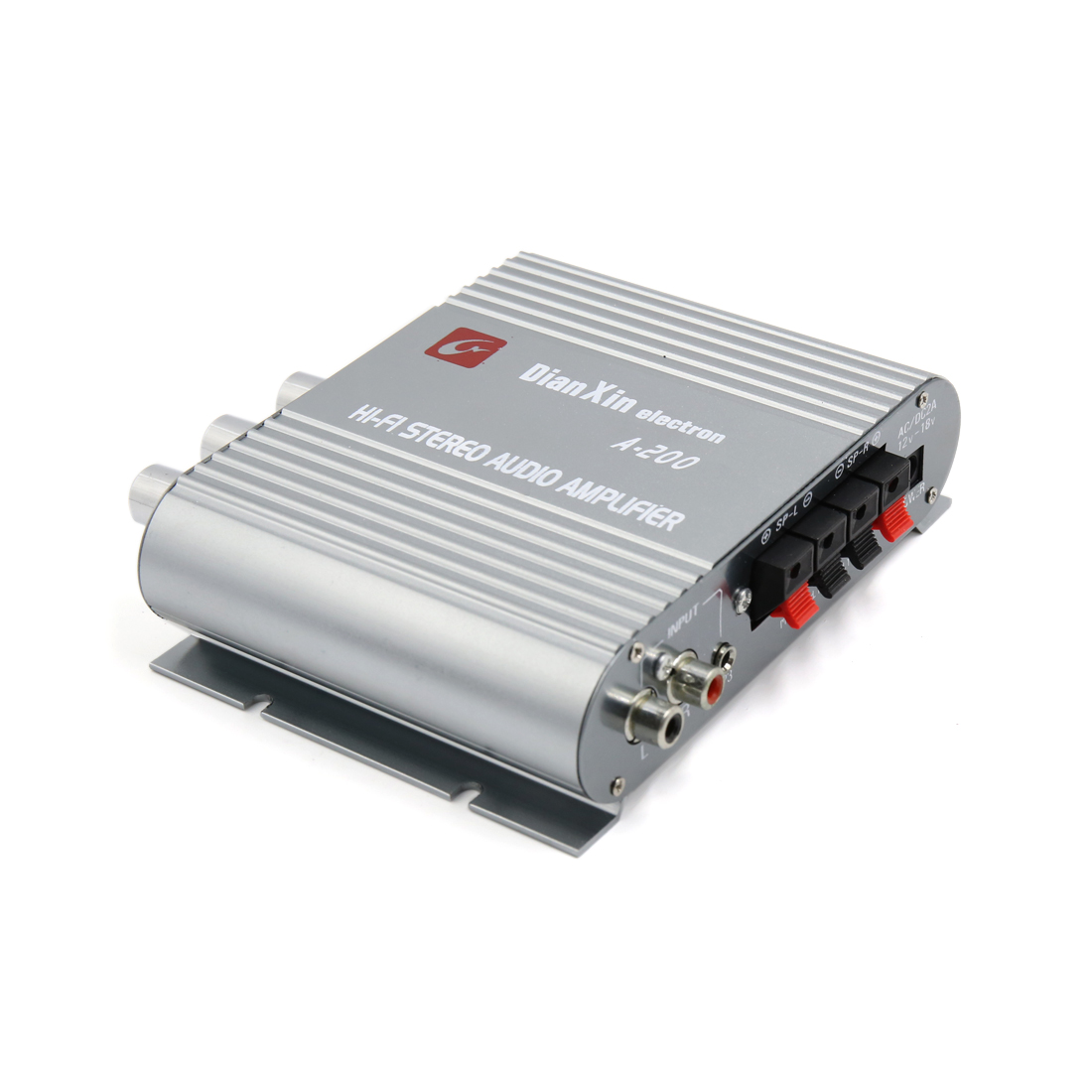 Universal Motorcycle Car 200W  Hi-fi Stereo Audio Power Amplifier 85dB Gray