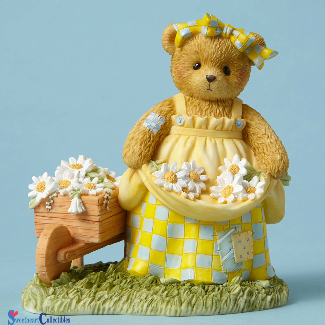 Cherished Teddies Bear Picking Daisies CT1602 MOF New 2016