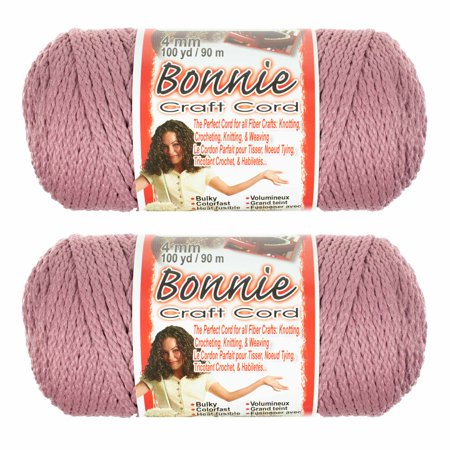 2 Pack Bonnie Macrame Cord - 4mm - 100 yd Lengths - Various Colors ()