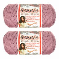 2 Pack Bonnie Macrame Cord - 4mm - 100 yd Lengths - Various Colors