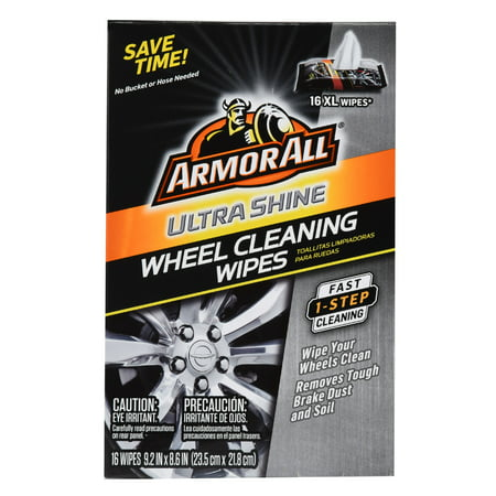 Armor All Ultra Shine Wheel Cleaning Wipes, 16 count, 18509