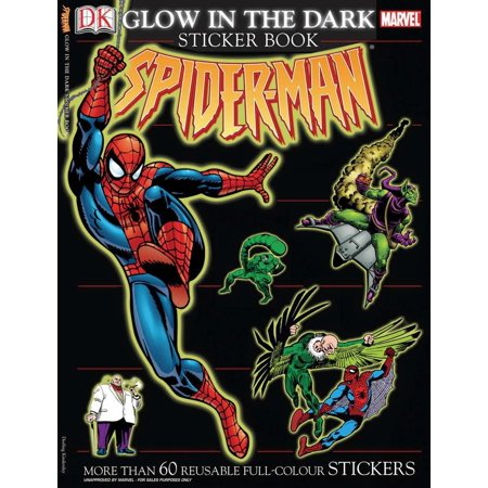 Ultimate Sticker Book: Glow in the Dark: Spider-Man : More Than 60 Reusable Full-Color - Glow In The Dark Spider