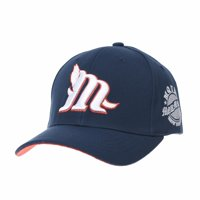 b6ade2936ea WITHMOONS Cotton Baseball Cap Simple Ballcap M Lettering Embroidery AM1996  (Navy)