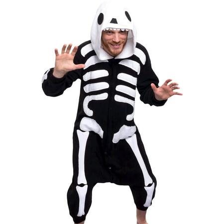 963335b1d0 Unisex Adult Plush Animal Cosplay Costume Pajamas (Skeleton ...