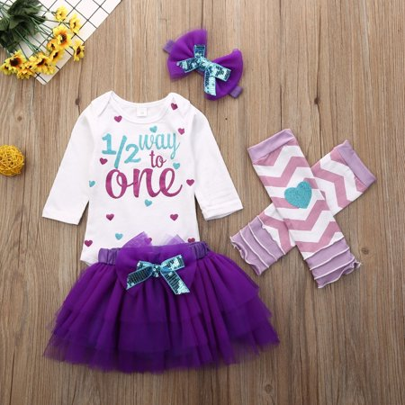 Baby Girl Kids First 1st Birthday Dress 4pcs Set Cake Smash Photoshoot Outfit Walmart Canada