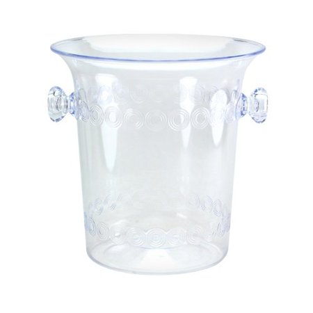 Ice Bucket, 4-Quart, Clear Plastic Ice Bucket For Wine or Champagne Bottles, Ideal for chilling wine or champagne bottles By Party Dimensions Ship from US (Plastic Champagne Bucket)