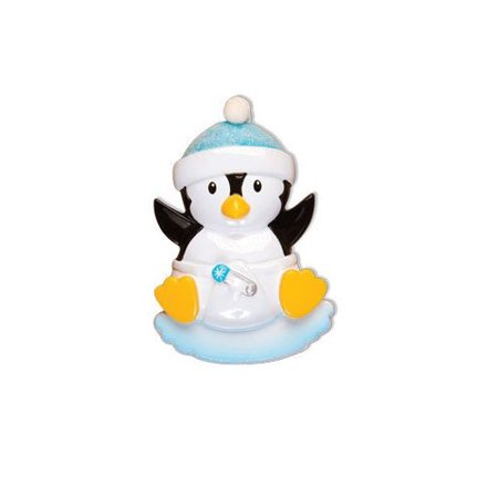 Baby Penguin Boy Personalized Christmas Ornament DO-IT-YOURSELF](Christmas Art For Toddlers)