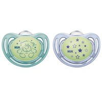 NUK Airflow Glow-in-the-Dark Pacifiers, 2-Pack