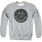 Smiley World Rough Face Mens Crewneck Sweatshirt