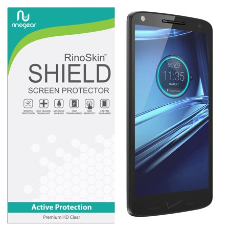 Motorola Droid Turbo 2 (2015) Screen Protector RinoGear Flexible HD Crystal Clear Anti-Bubble Unlimited Replacement Film