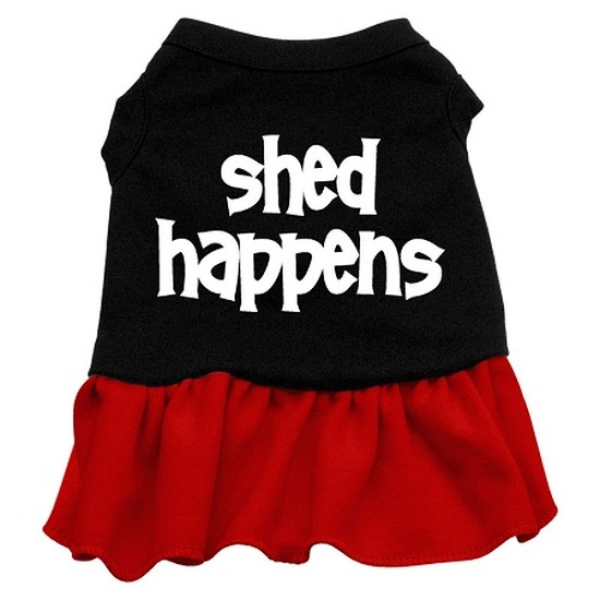 Mirage 58-16 XLBKRD Shed Happens Screen Print Dog Dress Black With Red XL