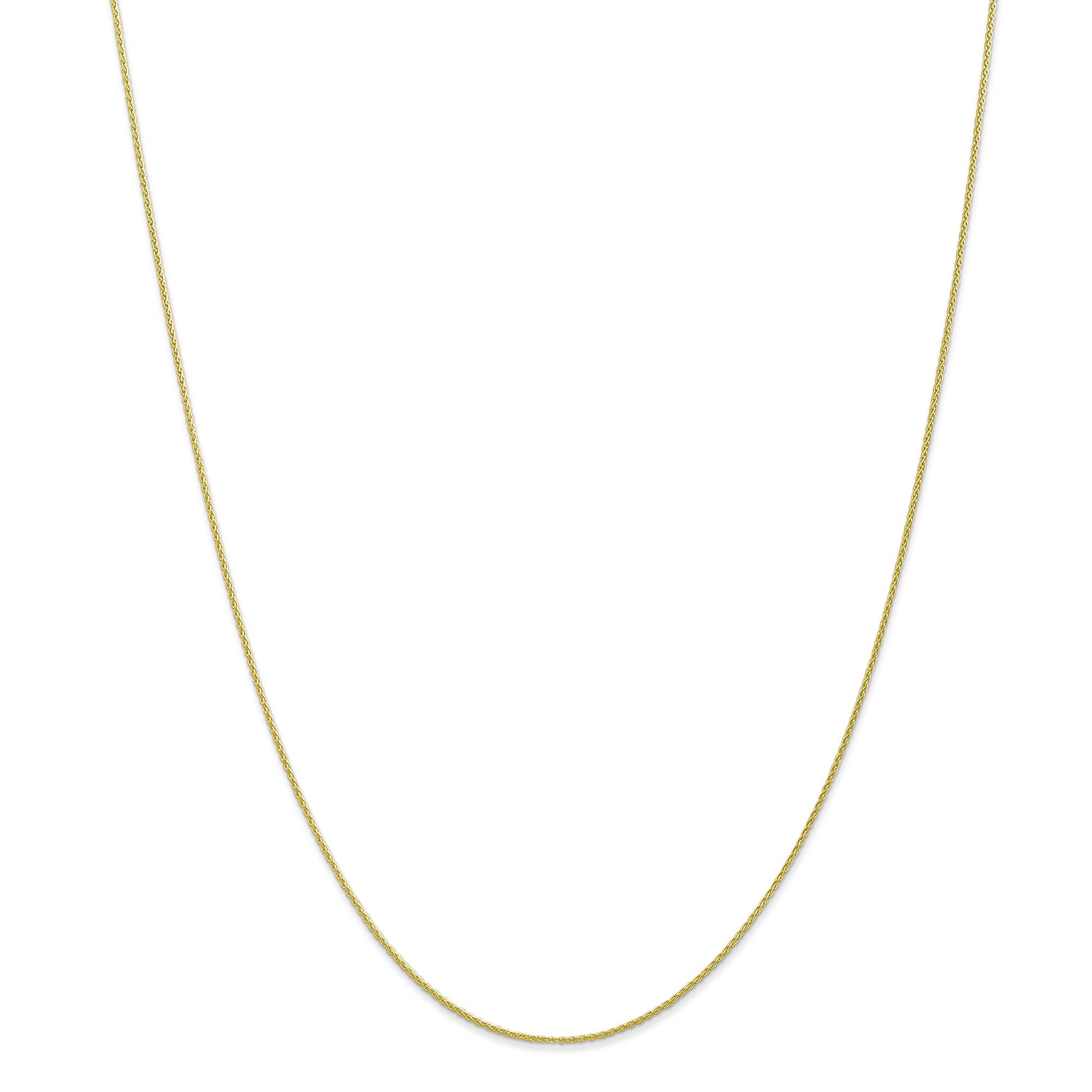 10K Yellow Gold .95mm Parisian Wheat Chain 20 Inch - image 5 of 5