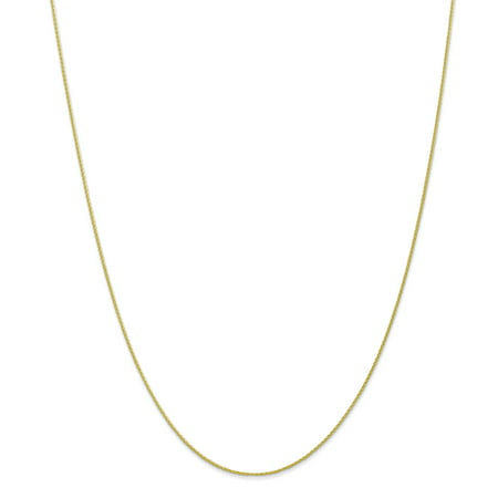10K Yellow Gold .95mm Parisian Wheat Chain 30 Inch - image 5 of 5