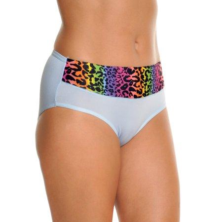 Angelina Hiphugger Panties with Rainbow Cheetah Print - Rainbow Parties