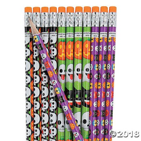 Halloween Emoji Pencils](Halloween Emoji Text)