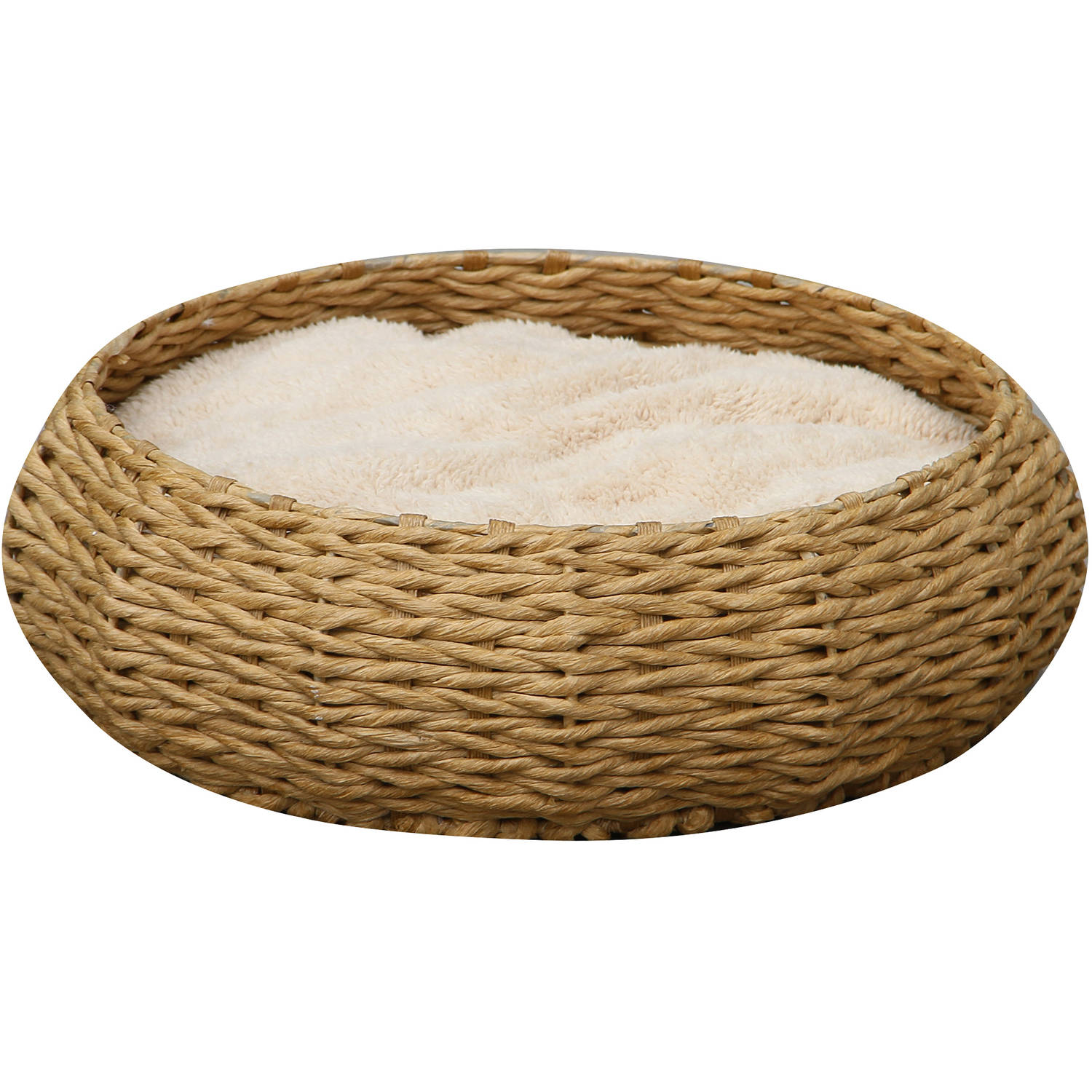 Petpals Group Paper Rope Round Bed with Pillow