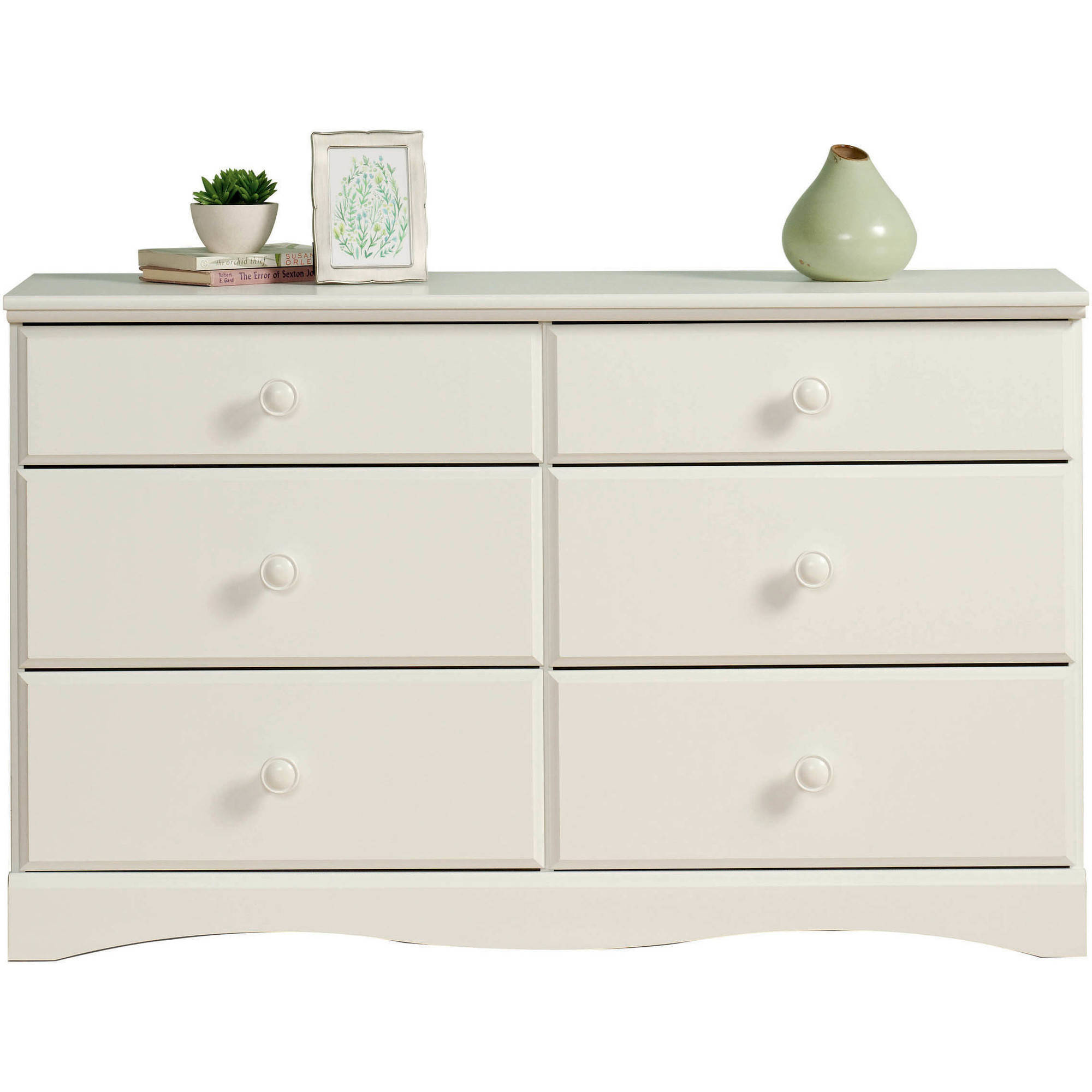 Mainstays Storybook 6-Drawer Dresser, Soft White Finish by Sauder Woodworking