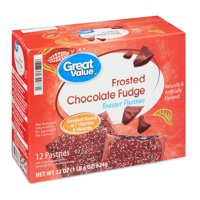 Great Value Frosted Toaster Pastries, Chocolate Fudge, 22 oz, 12 Count