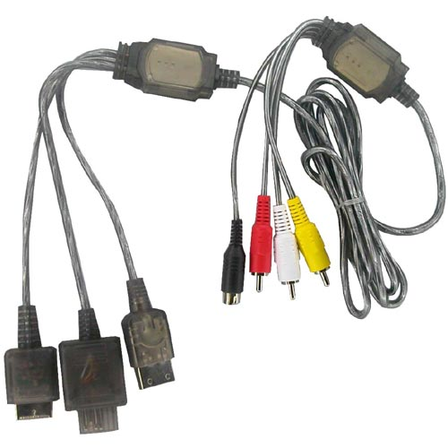 Pelican PL341 PS2/PS One/PSX S-video & A/V Cable