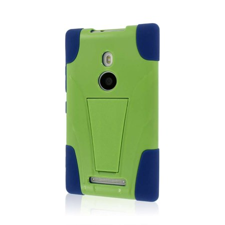 MPERO IMPACT X Series Kickstand Case for Nokia Lumia 925 - Blue / Green - Nadia 4 Light