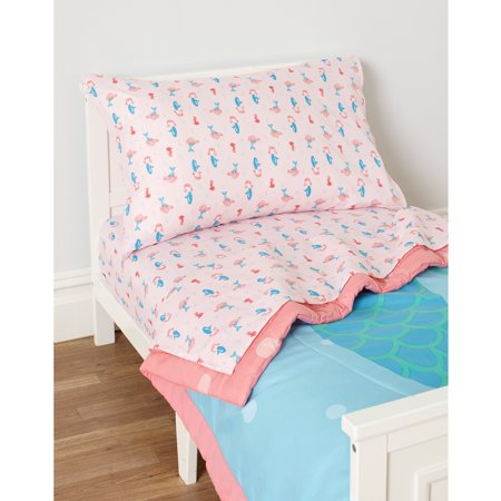 Child Of Mine By Carters Mermaid 3 Piece Toddler Sheet