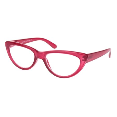 Womens Gothic Mod Retro Cat Eye Plastic Reading Glasses Red +2.75](Red Eye Glass)