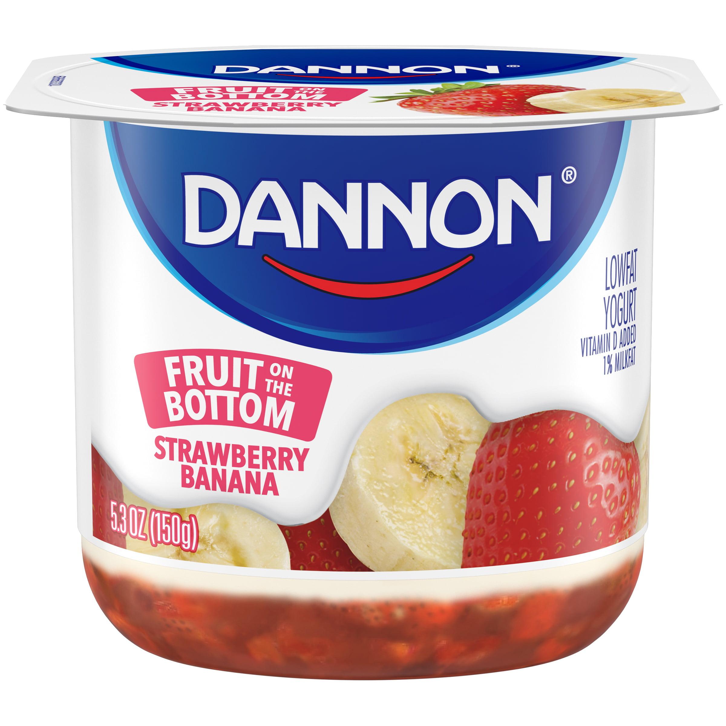 Brand Dannon® Fruit on the Bottom Lowfat Yogurt Strawberry Banana 5.3 oz. Single Serve