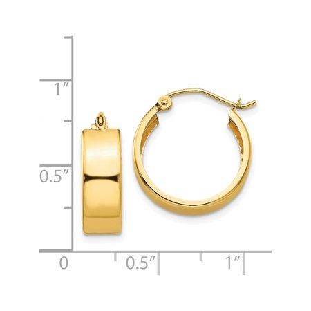 14k Yellow Gold Hoop (5.5x13mm) Earrings - image 3 of 4
