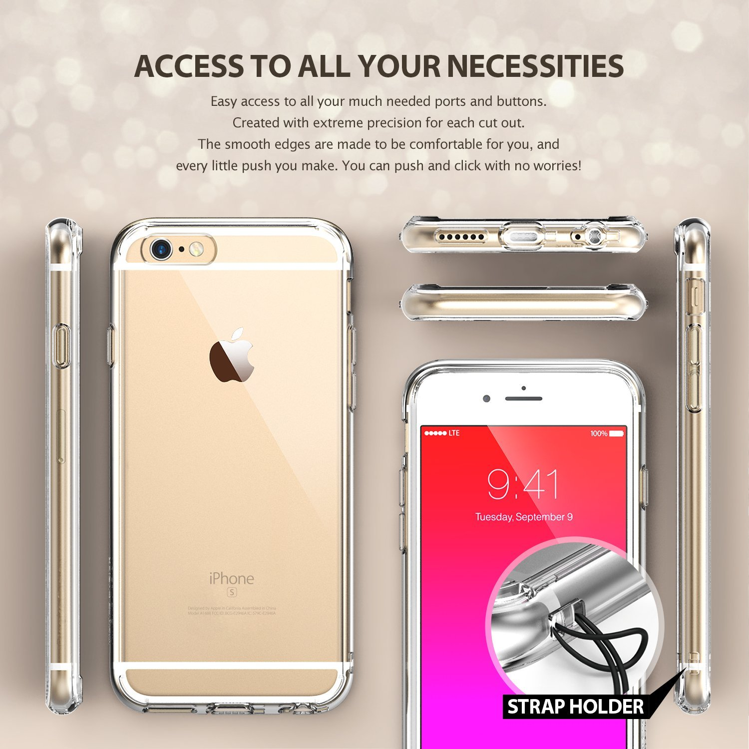 iPhone 6S Case, Ringke [FUSION] [Clear] Clear Back PC Flexible Shock Absorbing TPU Bumper Case for iPhone 6 - Walmart.com