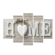 Big Clearance!5Pcs/Set Art Wall Decor,Concise Fashion Wall Paintings Home Letter Prints Photo Paintings Wall Art Canvas for Home Living Room Bedroom Party Decor