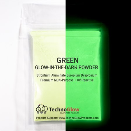 Green Glow in the Dark Pigment Powder, 1/2 Ounce (Best Glow In The Dark Powder)