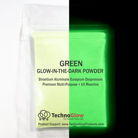 Green Glow in the Dark Pigment Powder, 1/2 Ounce
