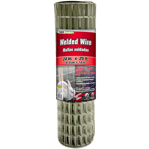 G&B Mat 309320A 24 in x 25' 1 in Mesh Galvanized Welded Mesh Fence