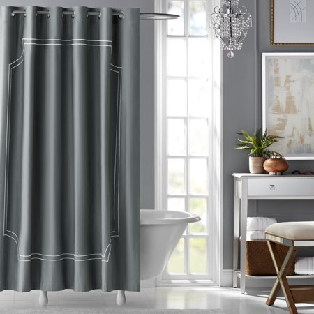 Hotel Style Florence Embroidered Fabric Shower Curtain Walmart Com