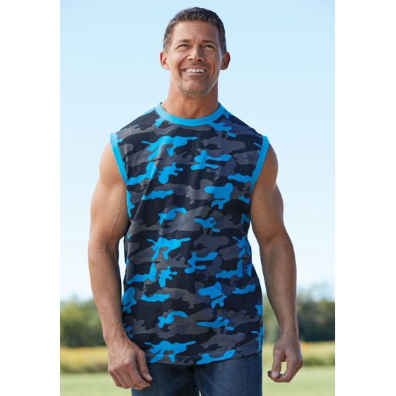903a7afe08c52 Kingsize - Kingsize Men s Big   Tall Shrink-less Lightweight Muscle Tee -  Walmart.com