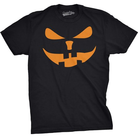 Crazy Dog T-shirts Mens Buck Teeth Pumpkin Face Funny Fall Halloween Spooky T shirt (Black)](Make Black Teeth Halloween)