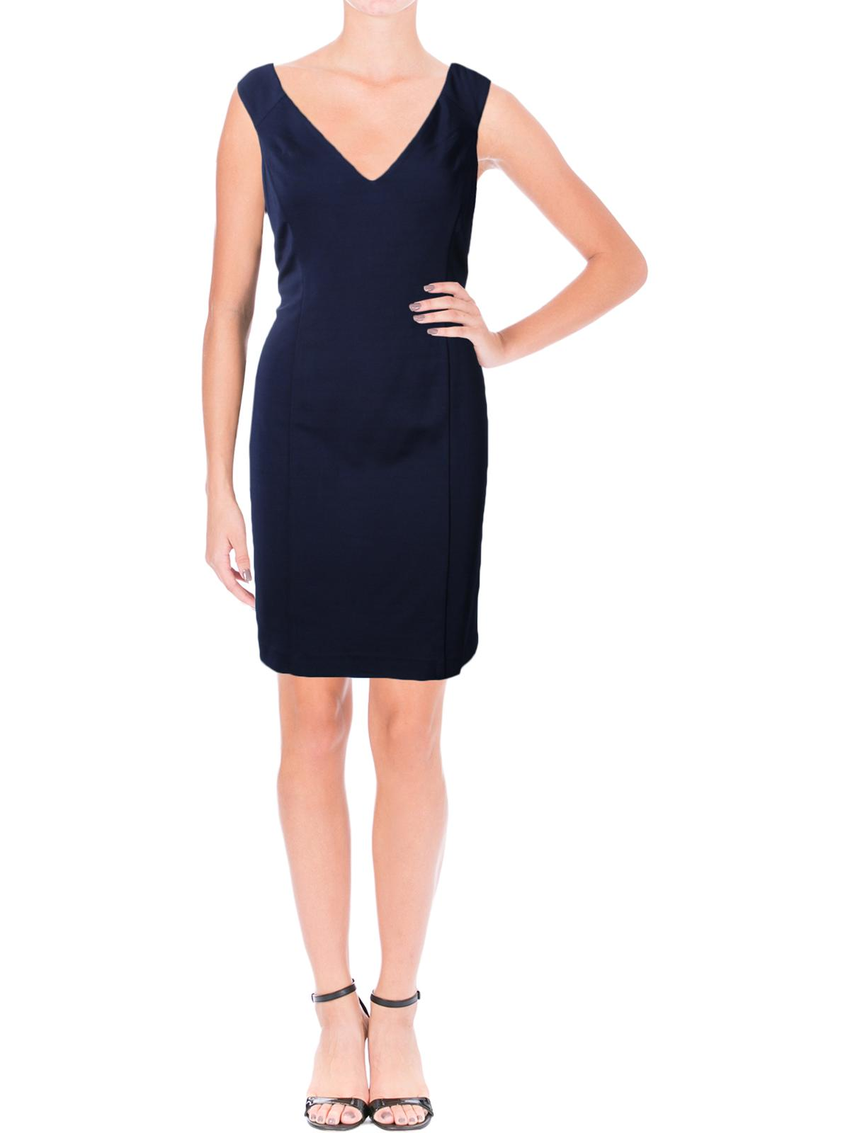 Lauren Ralph Lauren Womens Kaleighna V-Neck Sheath Semi-Formal Dress