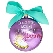 Story of Luke 2:11 Metallic Ornament