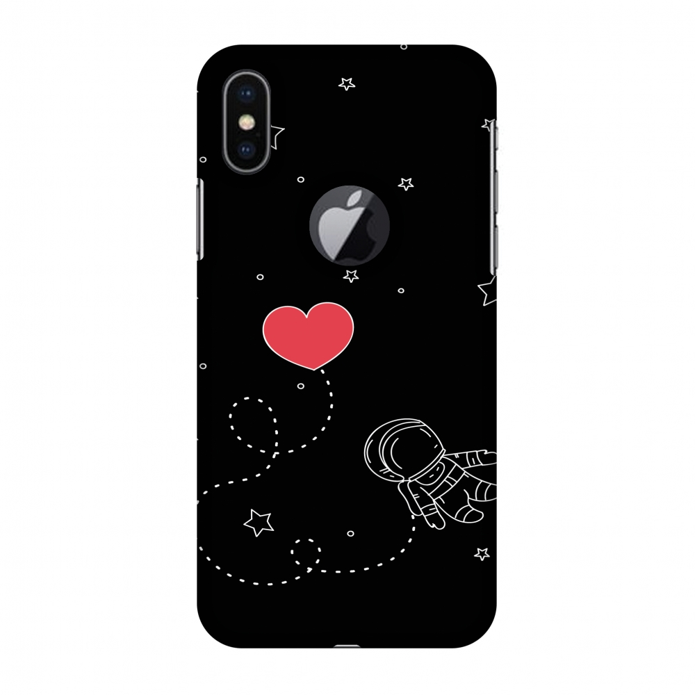 iPhone X Case, Premium Handcrafted Designer Hard Shell Snap On Case Printed Back Cover with Screen Cleaning Kit for iPhone X, Slim, Protective - Space Love