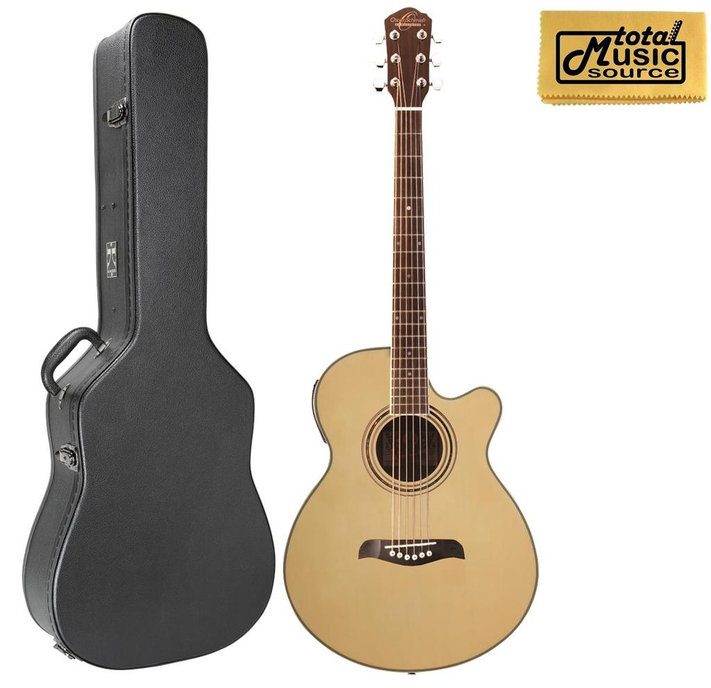 Oscar Schmidt OG10CE Concert-Size Cutaway Acoustic-Electric Guitar Natural, W Case,... by Oscar Schmidt