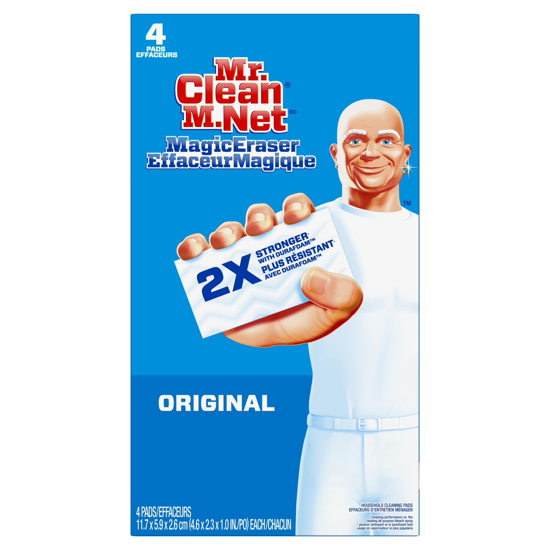 Mr. Clean Magic Eraser Original, Cleaning Pads with Durafoam, 4 Count