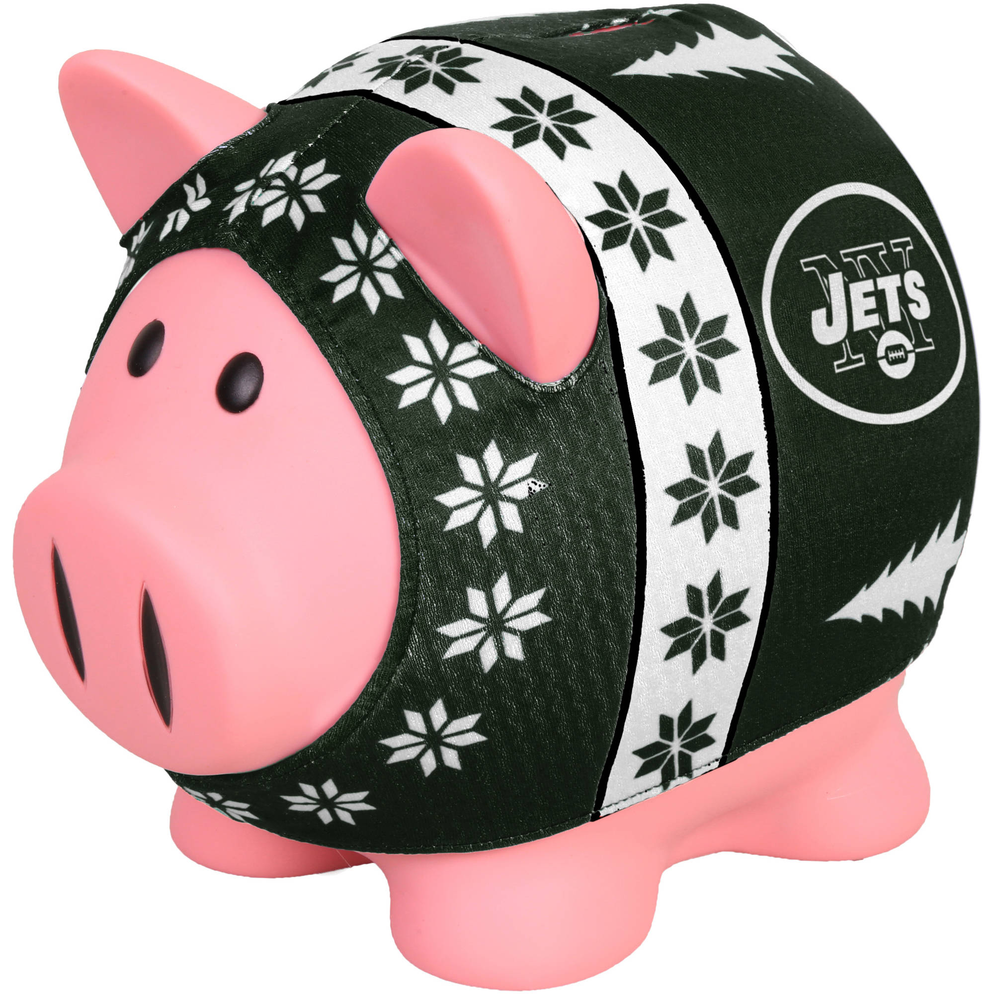 Forever Collectibles NFL Sweater Piggy Bank, New York Jets