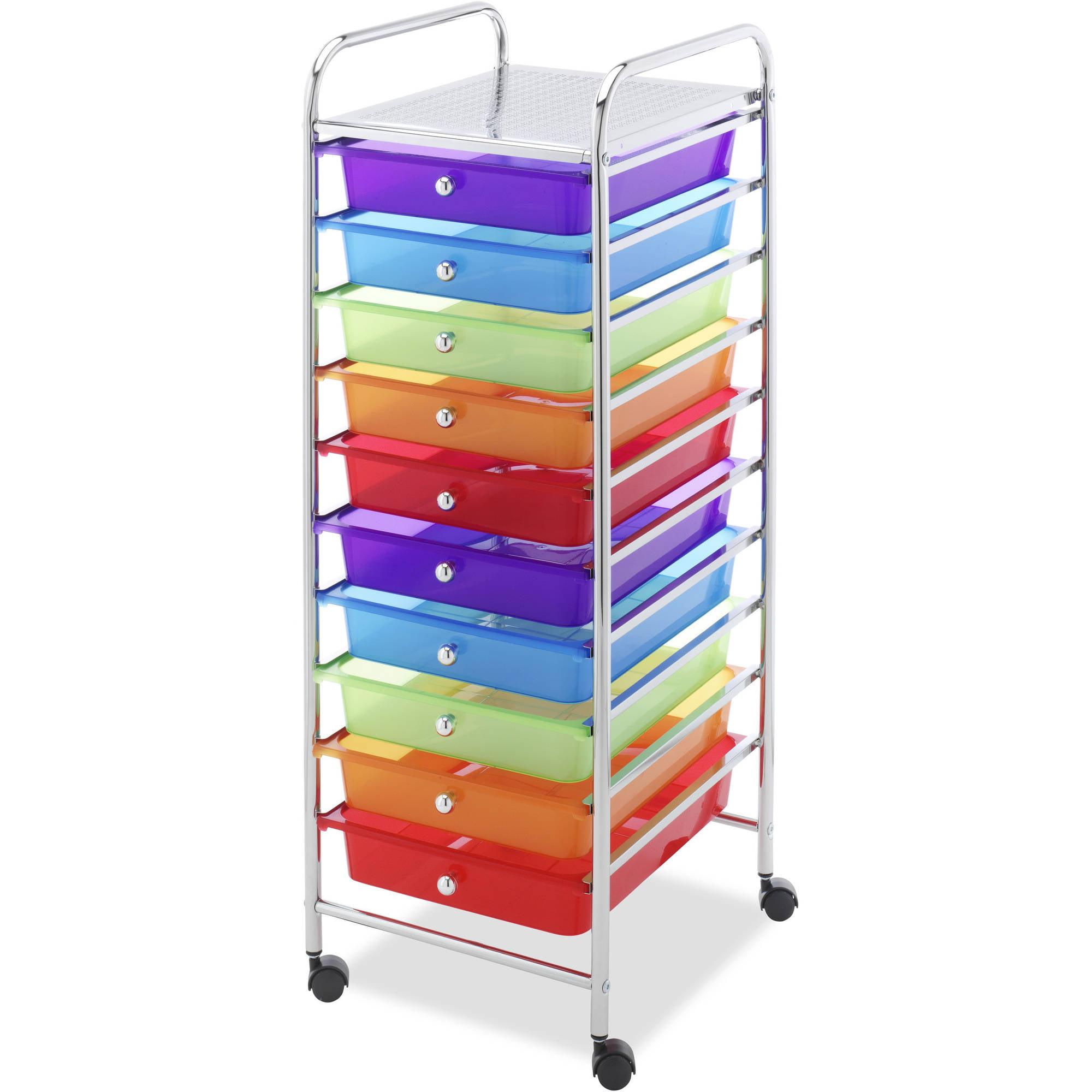 Whitmor 10-Drawer Multi-Color Cart by Whitmor