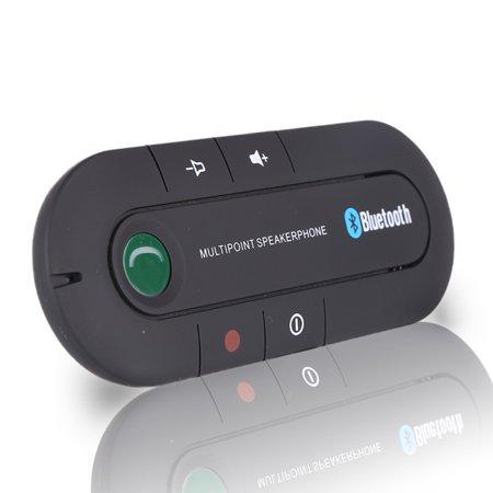 Bluetooth Speakerphone 4.1+EDR Wireless Audio Music Receiver Hands Free Bluetooth Car Kit Sun Visor Portable Bluetooth Multipoint Speakerphone Parrot Bluetooth Hands Free Car